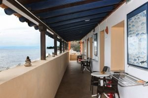 The view once you exit the Artemis studio, overlooking the Aegean and water, 2 meters away from the door.